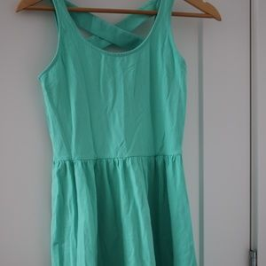 Frenchi seaform green colored dress Medium